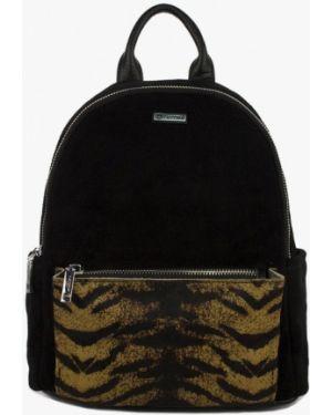 Рюкзак замшевый черный Laccoma