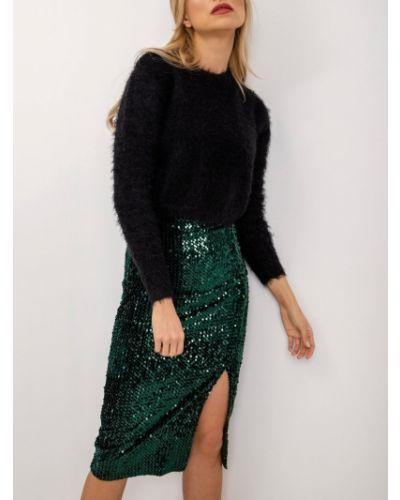 Spódnica z cekinami - zielona Fashionhunters