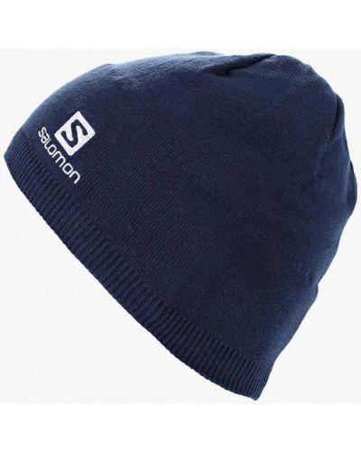 Синяя шапка осенняя Salomon