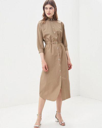 Коричневое платье с длинными рукавами Imperial