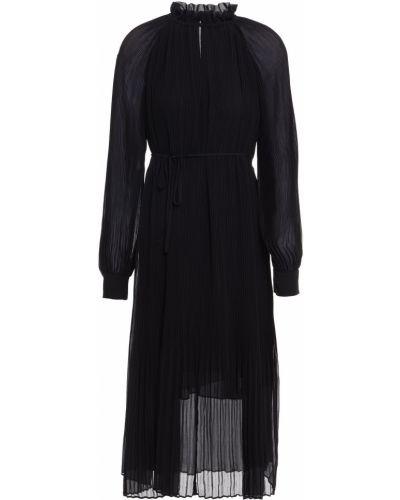 Шифоновое платье миди - черное SamsØe Φ SamsØe