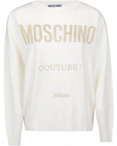 Biały golf Moschino