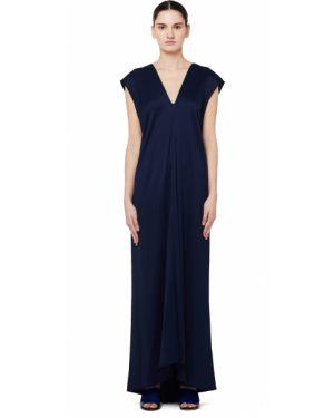 Вечернее платье длинное - синее The Row