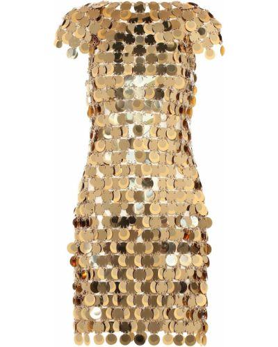 Платье золотой Paco Rabanne