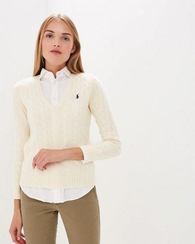 Белый пуловер Polo Ralph Lauren