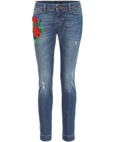 Джинсы-скинни с вышивкой mom Dolce & Gabbana