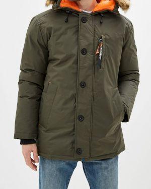 Зимняя куртка утепленная зеленая Geographical Norway