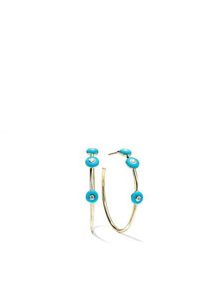 Niebieskie złote kolczyki Ippolita