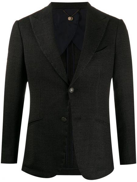 Коричневый однобортный пиджак на пуговицах букле Maurizio Miri