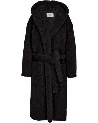 Плюшевый халат - черный Balenciaga