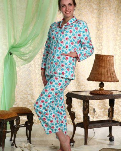 Пижама с брюками на пуговицах фланелевая Грандсток
