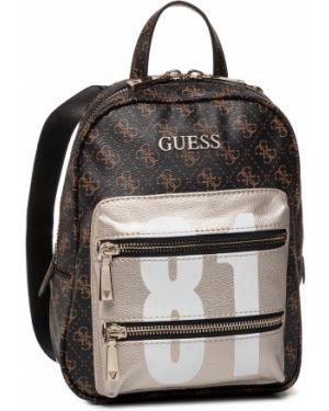 Brązowy torba sportowa z niskim stanem Guess
