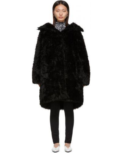 Длинное пальто стеганое без воротника Balenciaga