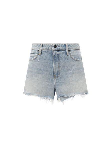 Джинсовые шорты - синие Denim X Alexander Wang