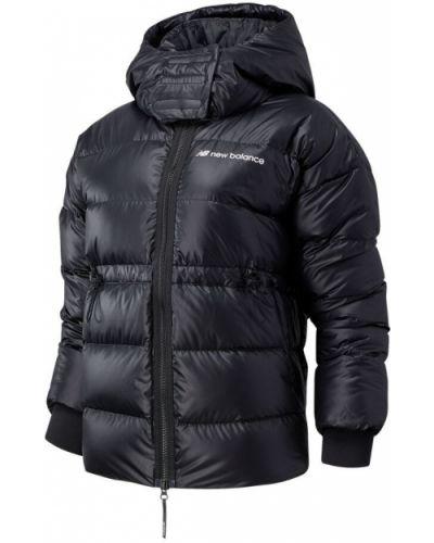 Черная утепленная пуховая спортивная куртка New Balance