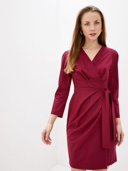 Платье бордовый с запахом Villagi