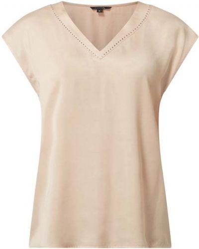 Beżowa bluzka krótki rękaw z wiskozy Comma