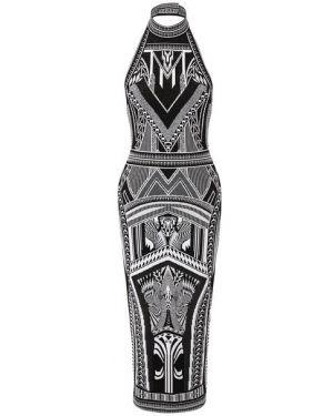 Облегающее платье деловое с американской проймой Balmain