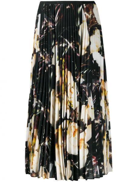 Черная с завышенной талией плиссированная юбка Paul Smith