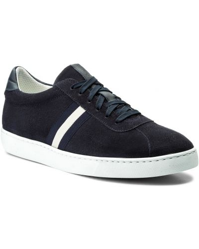 Skórzany sneakersy zamsz Gino Rossi