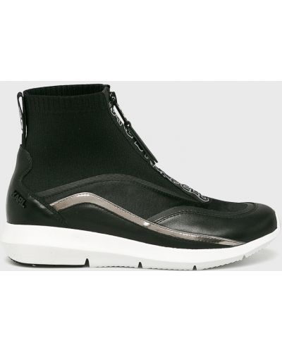 Кроссовки на платформе текстильные черный Karl Lagerfeld