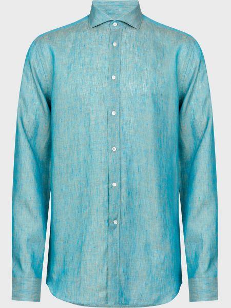 Рубашка на пуговицах - зеленая Corneliani