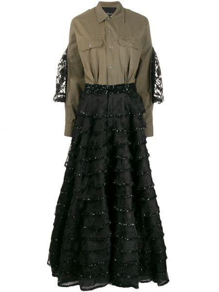 Платье макси длинное - зеленое John Richmond