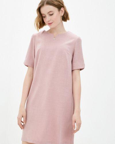 Прямое розовое платье А-силуэта Shovsvaro