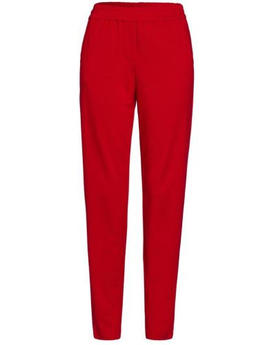 Czerwone spodnie w paski Marc Aurel