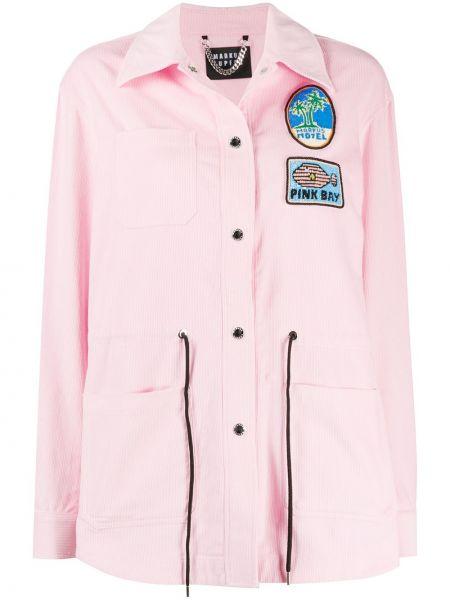 Розовая куртка вельветовая с воротником Markus Lupfer