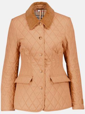 Ватная бежевая стеганая куртка Burberry