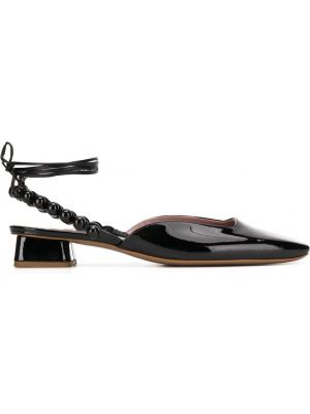 Черные туфли-лодочки с квадратным носком с бисером на каблуке Rayne