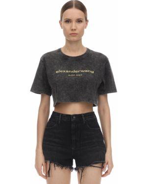 Рубашка с вышивкой с принтом Alexander Wang