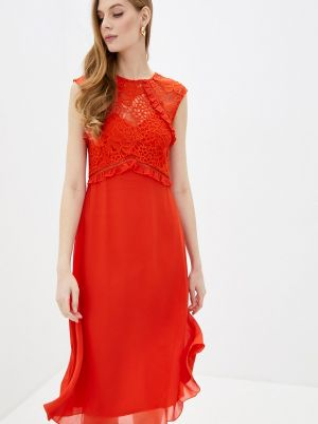 Оранжевое платье Little Mistress