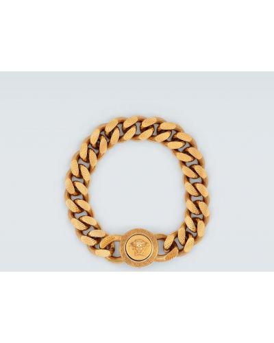 Золотой браслет золотой металлический Versace