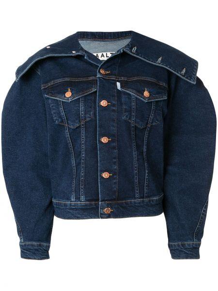 Niebieskie jeansy bawełniane Aalto