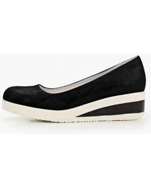 Туфли из нубука черные Betsy