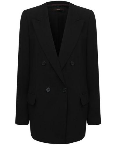Шерстяной пиджак - черный Windsor