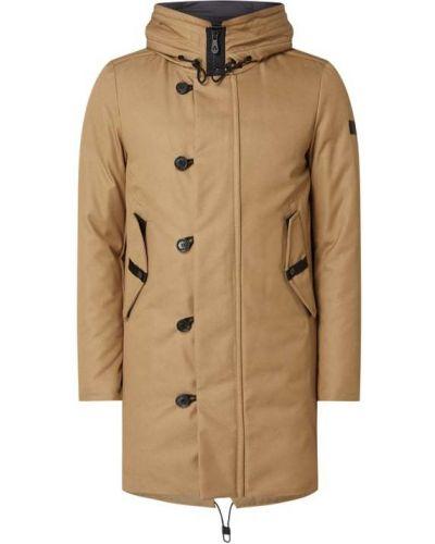Beżowa kurtka z kapturem bawełniana Peuterey