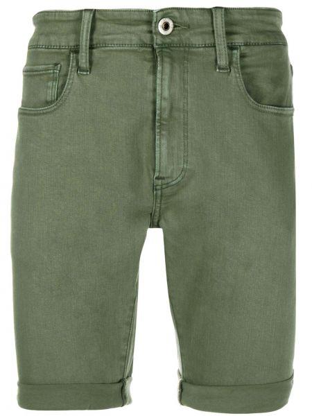 Синие джинсовые шорты с карманами с вышивкой из овчины G-star Raw