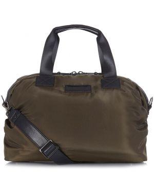 Zielona torba na ramię z nylonu Tiba + Marl