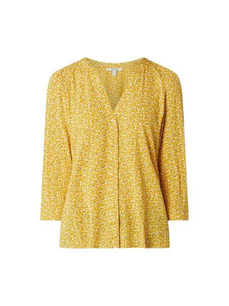 Tunika z wiskozy - żółta Esprit