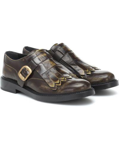Klasyczny brązowy skórzany buty brogsy Tod's