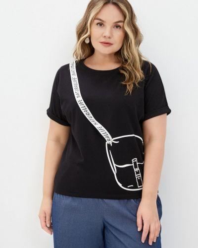 Черная футболка с короткими рукавами Le Monique