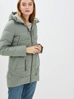 Зимнее пальто зеленое осеннее Winterra