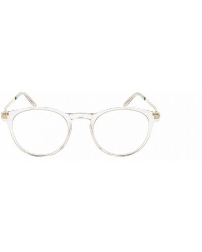 Białe okulary Mykita
