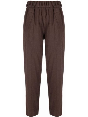 Укороченные брюки - коричневые Tela