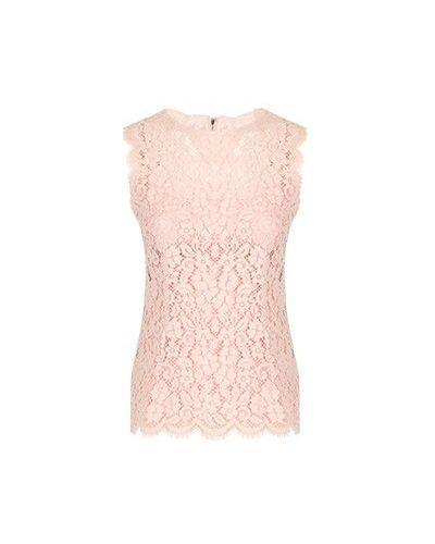 Хлопковая блузка - розовая Dolce&gabbana
