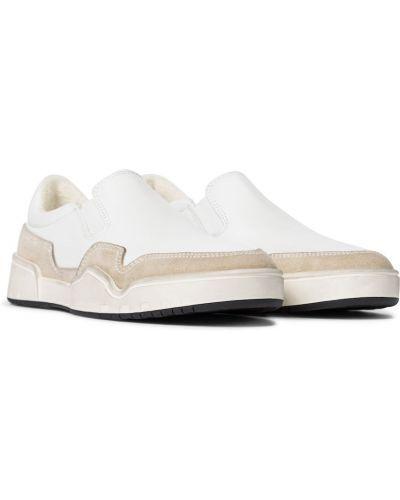 Кожаные белые слипы Isabel Marant