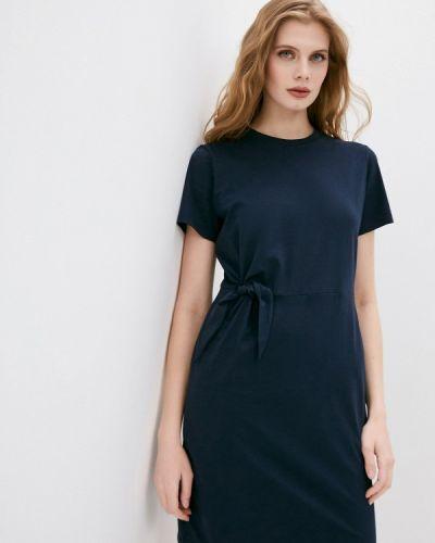 Синее платье Hugo
